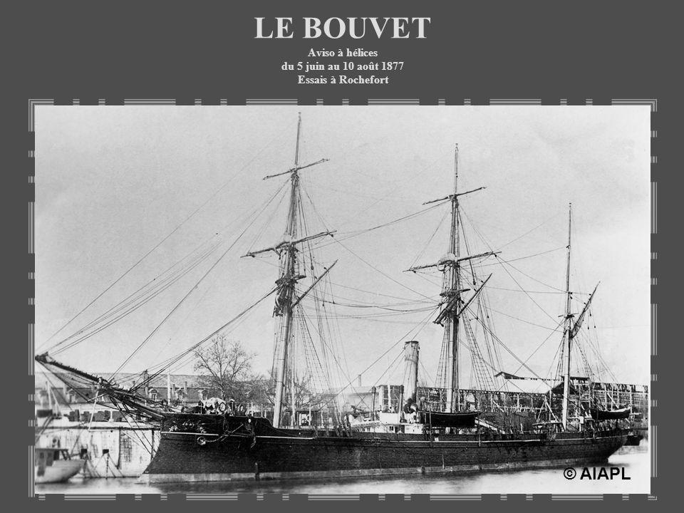 LE BOUVET Aviso à hélices du 5 juin au 10 août 1877 Essais à Rochefort