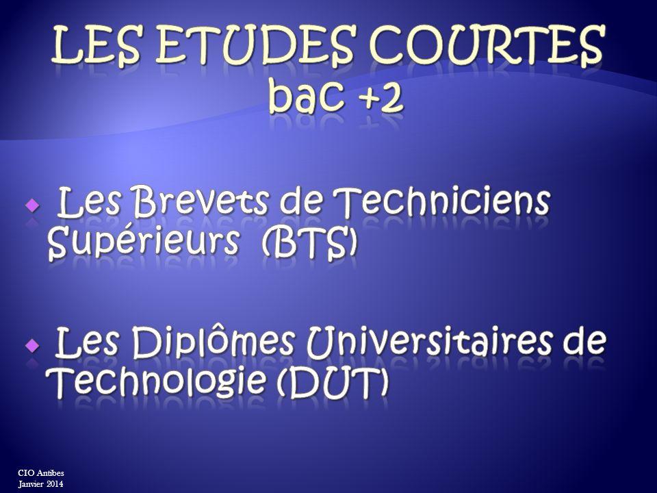 Les ETUDEs Courtes bac +2