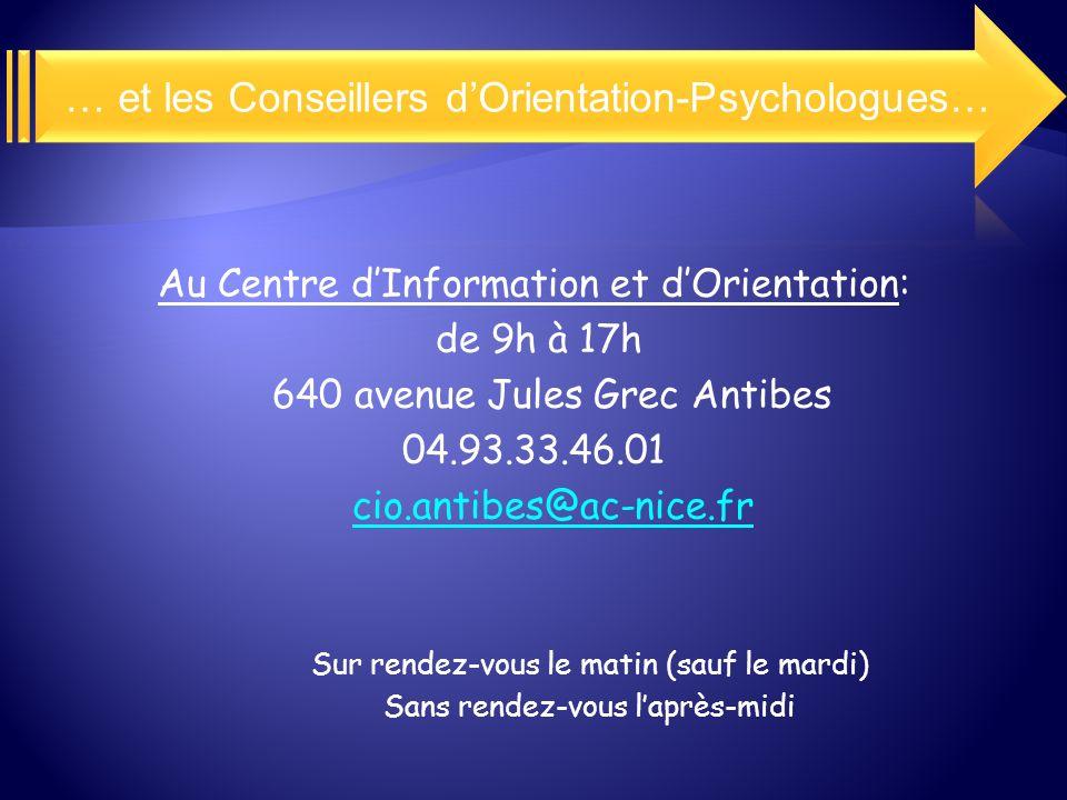 … et les Conseillers d'Orientation-Psychologues…