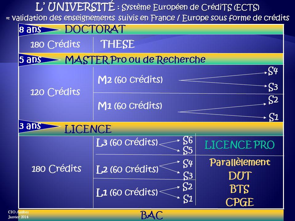 L' Université : Système Européen de CrédiTS (ECTS)