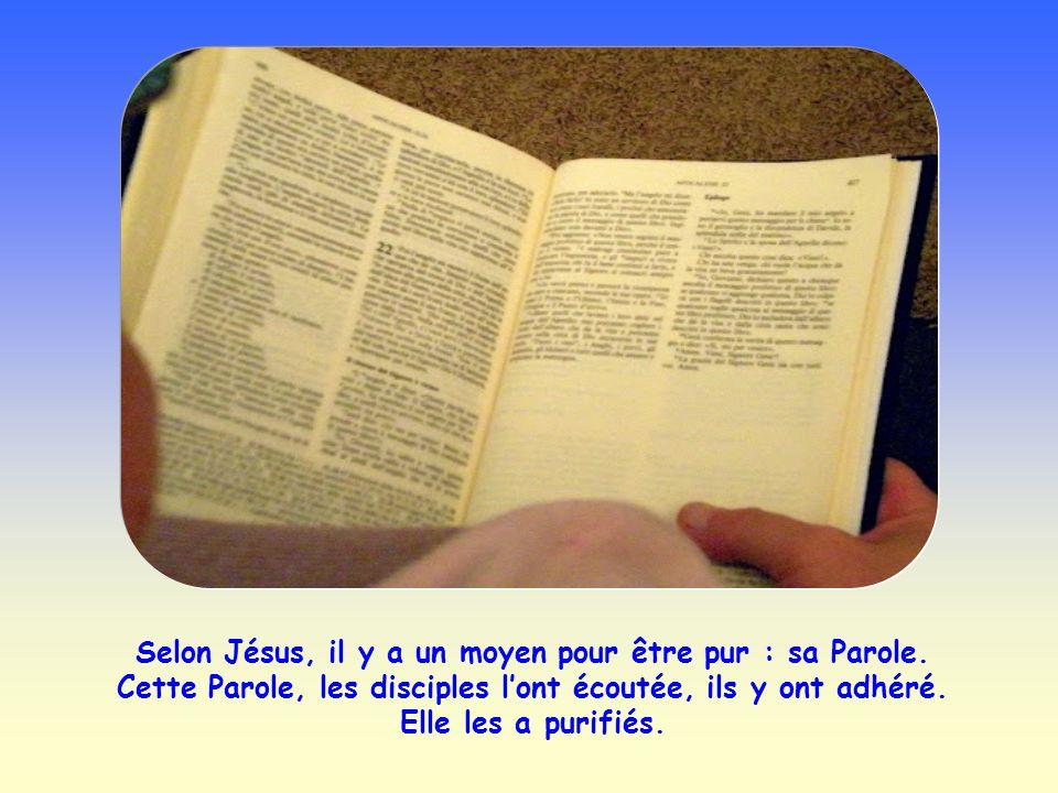 Selon Jésus, il y a un moyen pour être pur : sa Parole.
