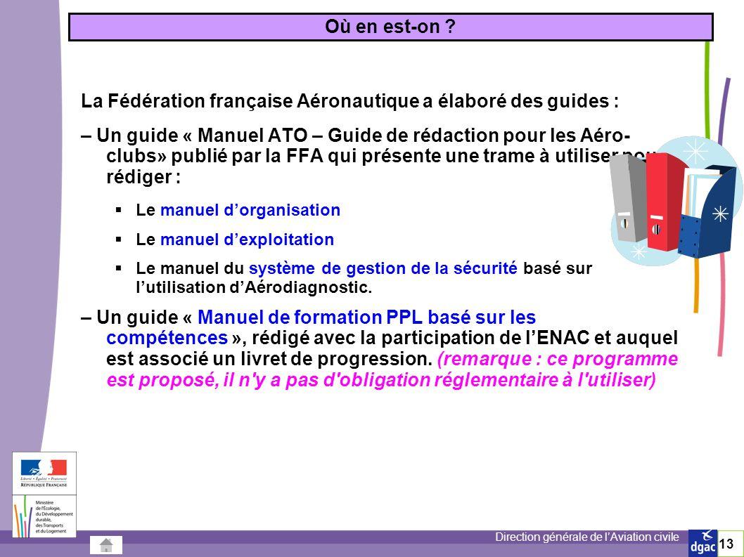La Fédération française Aéronautique a élaboré des guides :