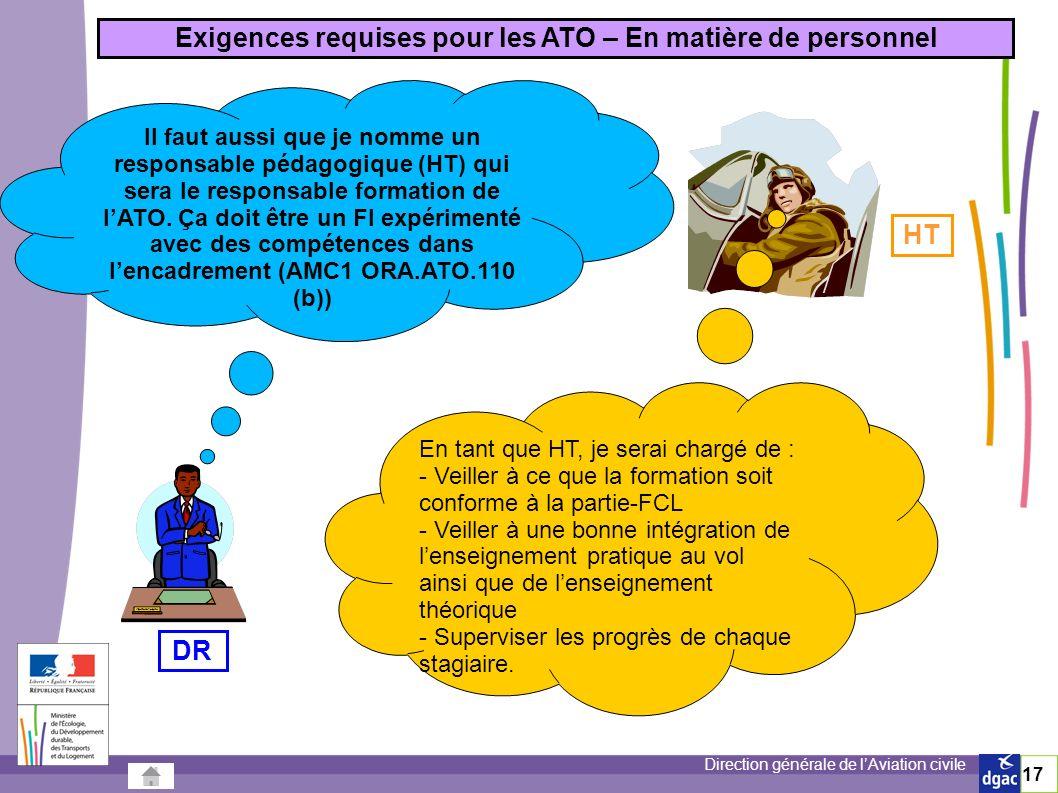 Exigences requises pour les ATO – En matière de personnel