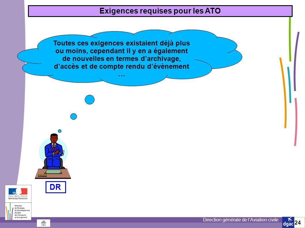 Exigences requises pour les ATO