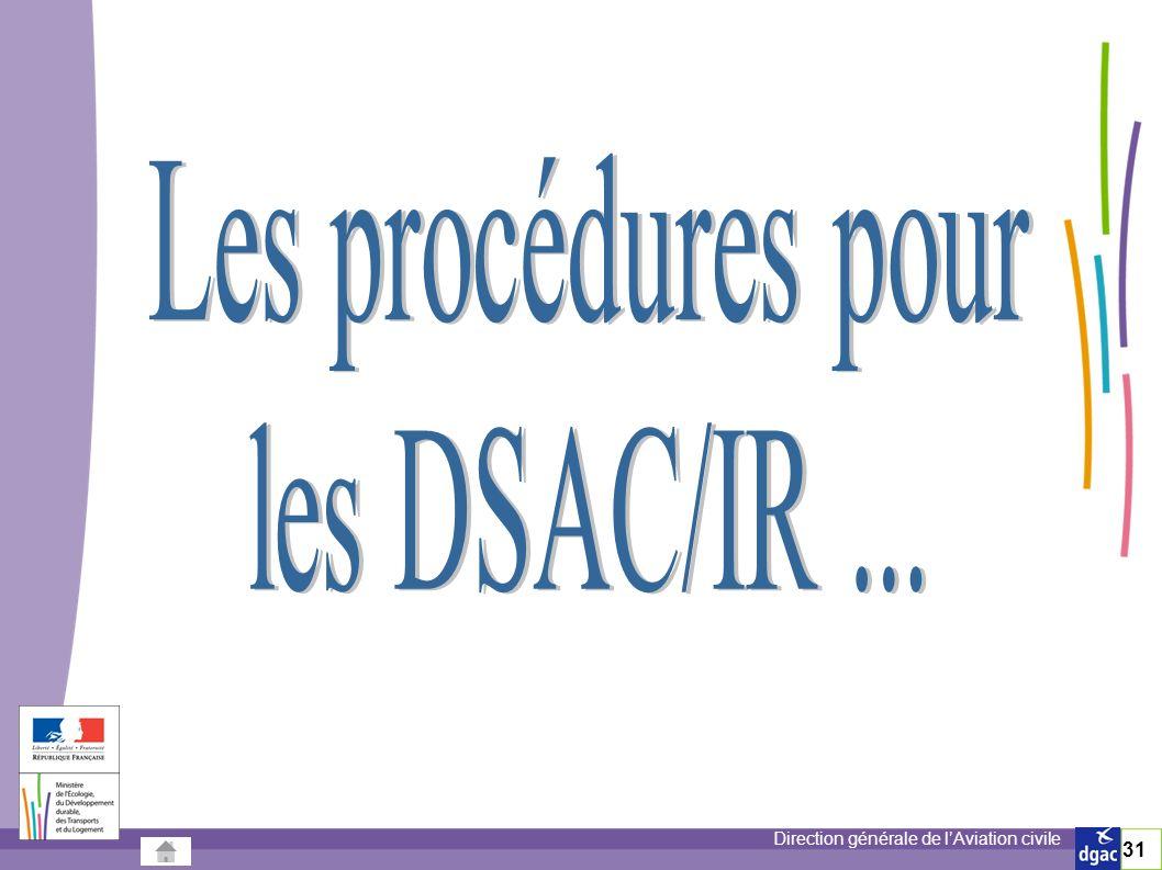 Les procédures pour les DSAC/IR ... 31 31/03/2017