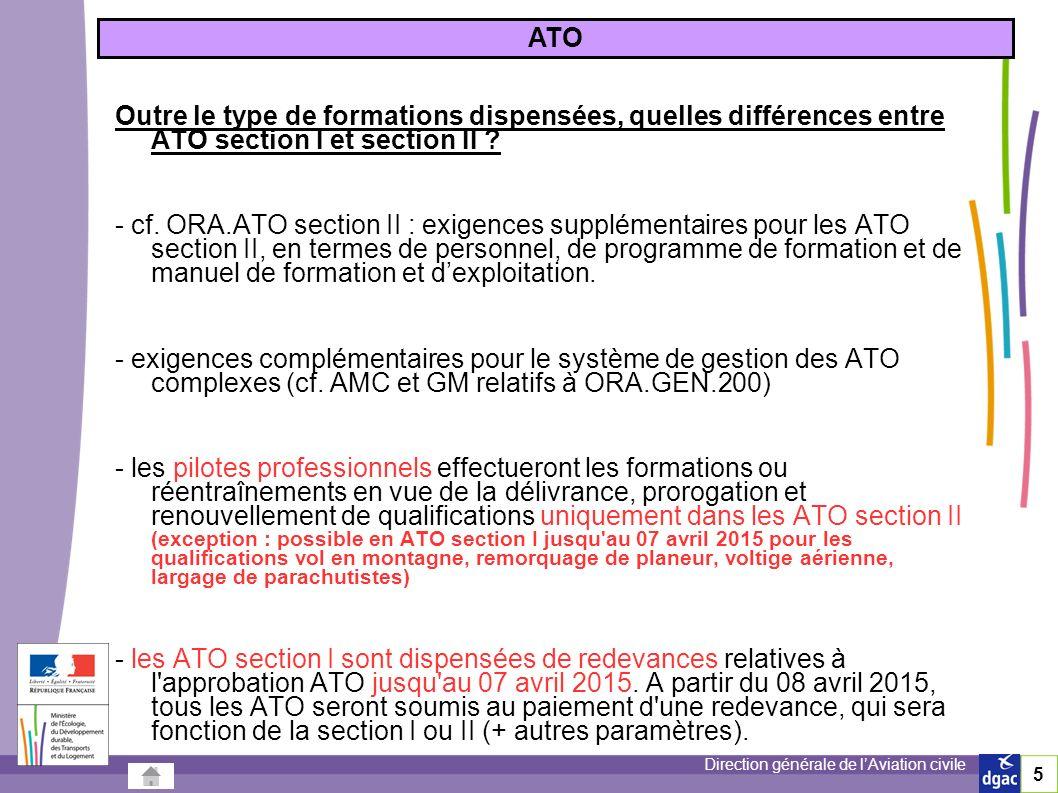 31/03/2017 ATO. Outre le type de formations dispensées, quelles différences entre ATO section I et section II