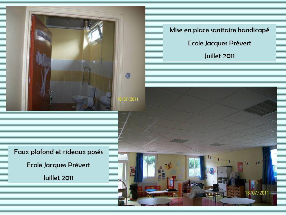 Mise en place sanitaire handicapé Ecole Jacques Prévert Juillet 2011
