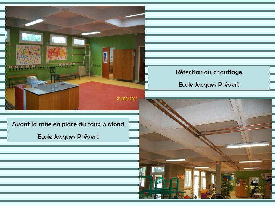 Réfection du chauffage Ecole Jacques Prévert