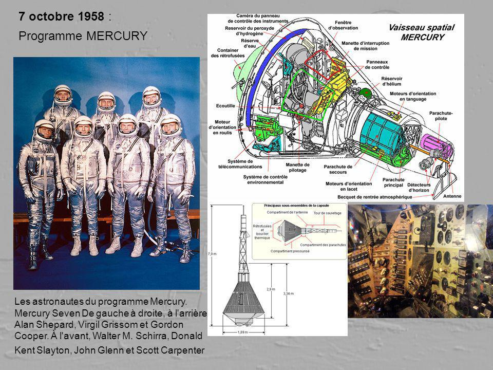 7 octobre 1958 : Programme MERCURY
