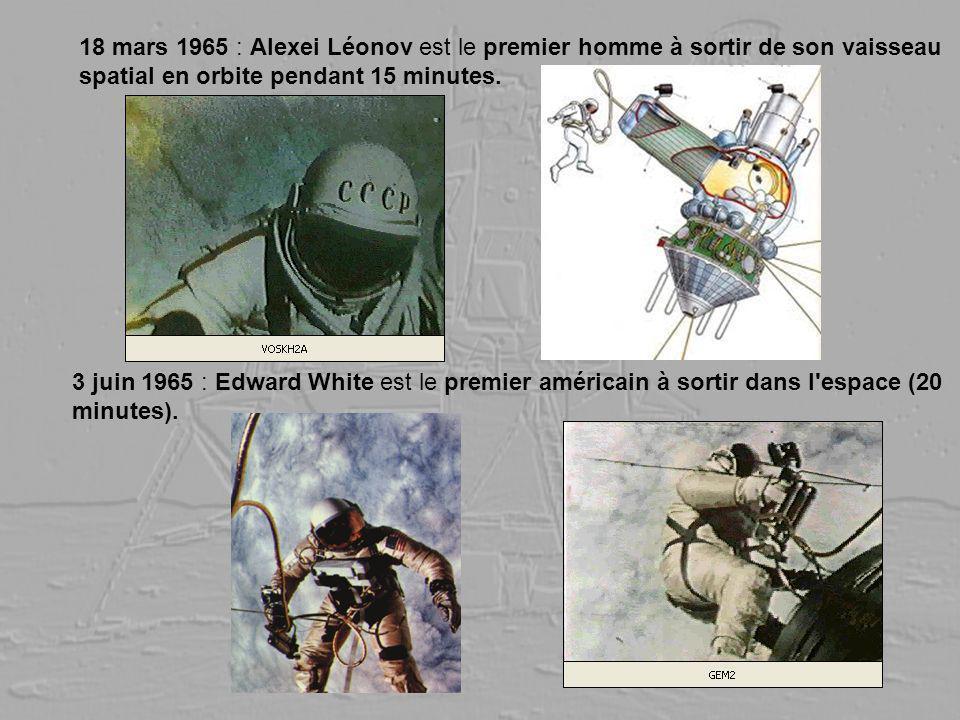 18 mars 1965 : Alexei Léonov est le premier homme à sortir de son vaisseau spatial en orbite pendant 15 minutes.