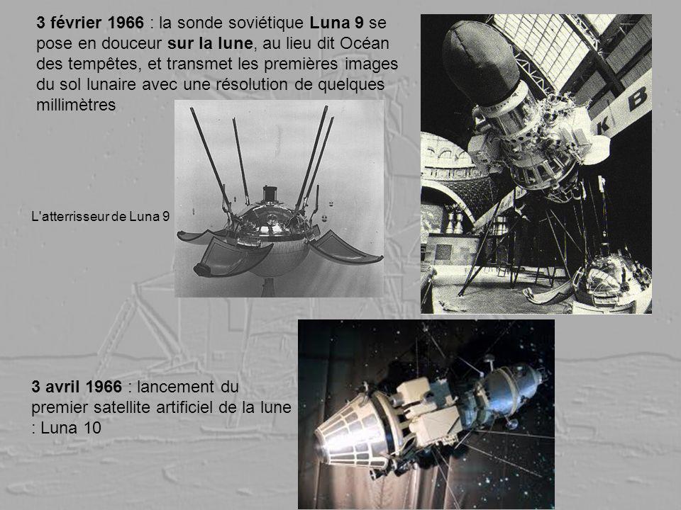 3 février 1966 : la sonde soviétique Luna 9 se pose en douceur sur la lune, au lieu dit Océan des tempêtes, et transmet les premières images du sol lunaire avec une résolution de quelques millimètres