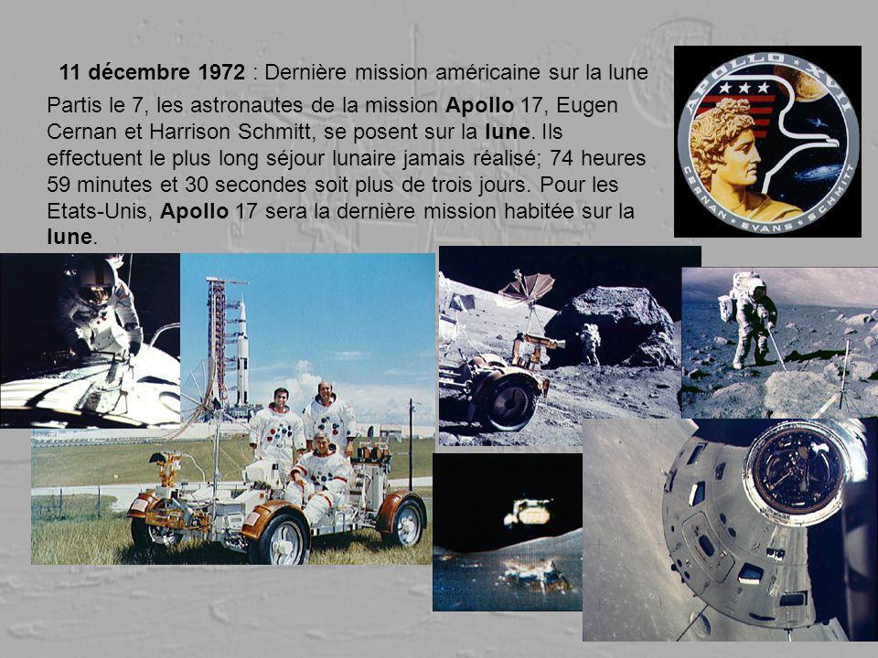 11 décembre 1972 : Dernière mission américaine sur la lune