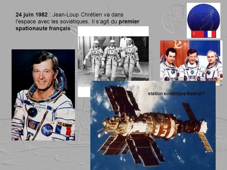 24 juin 1982 : Jean-Loup Chrétien va dans l espace avec les soviétiques. Il s'agit du premier spationaute français