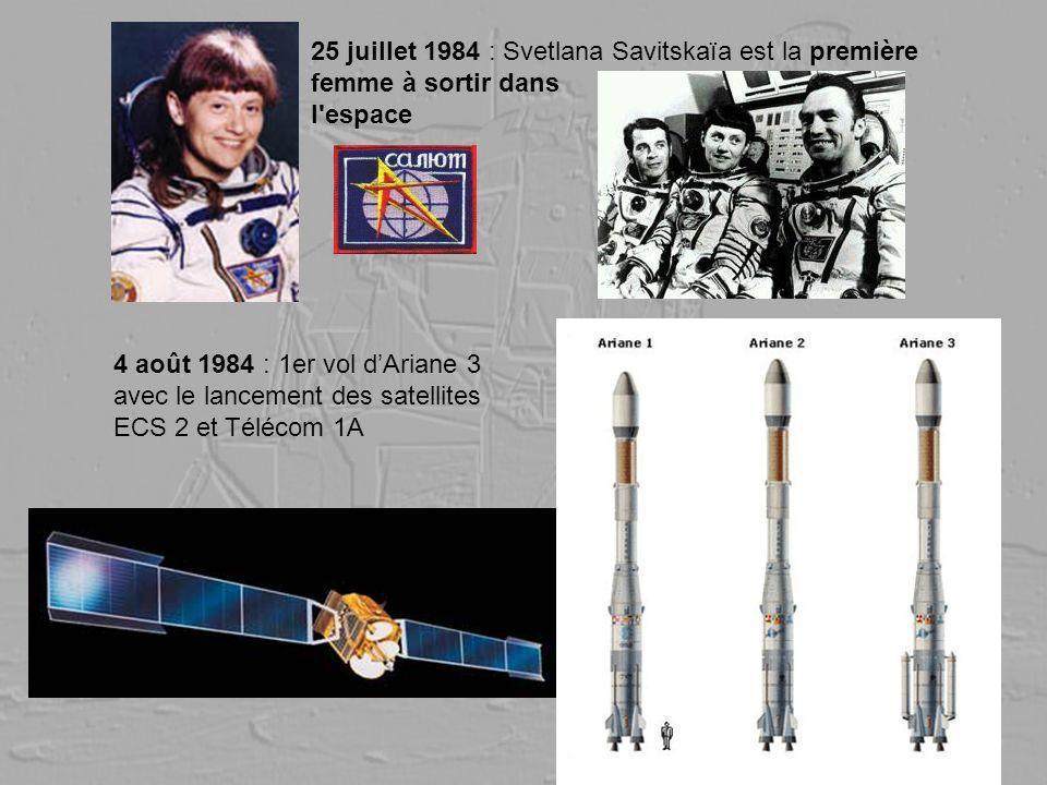 25 juillet 1984 : Svetlana Savitskaïa est la première femme à sortir dans