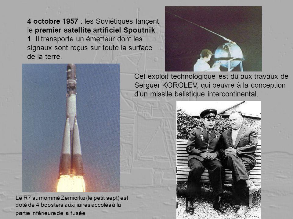 4 octobre 1957 : les Soviétiques lançent le premier satellite artificiel Spoutnik 1. Il transporte un émetteur dont les signaux sont reçus sur toute la surface de la terre.