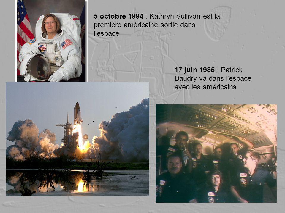 5 octobre 1984 : Kathryn Sullivan est la première américaine sortie dans