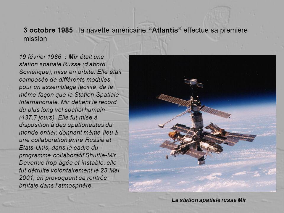 3 octobre 1985 : la navette américaine Atlantis effectue sa première mission