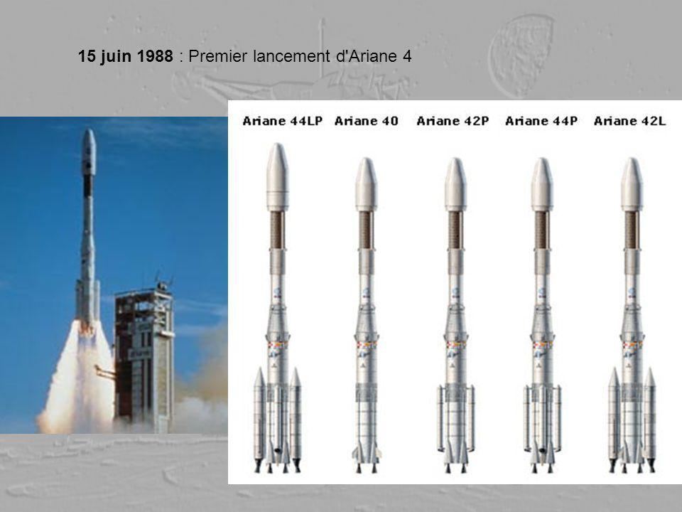 15 juin 1988 : Premier lancement d Ariane 4