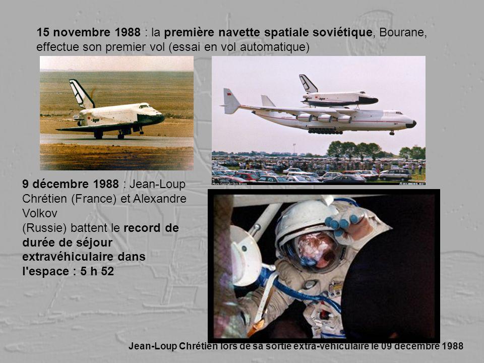 15 novembre 1988 : la première navette spatiale soviétique, Bourane,