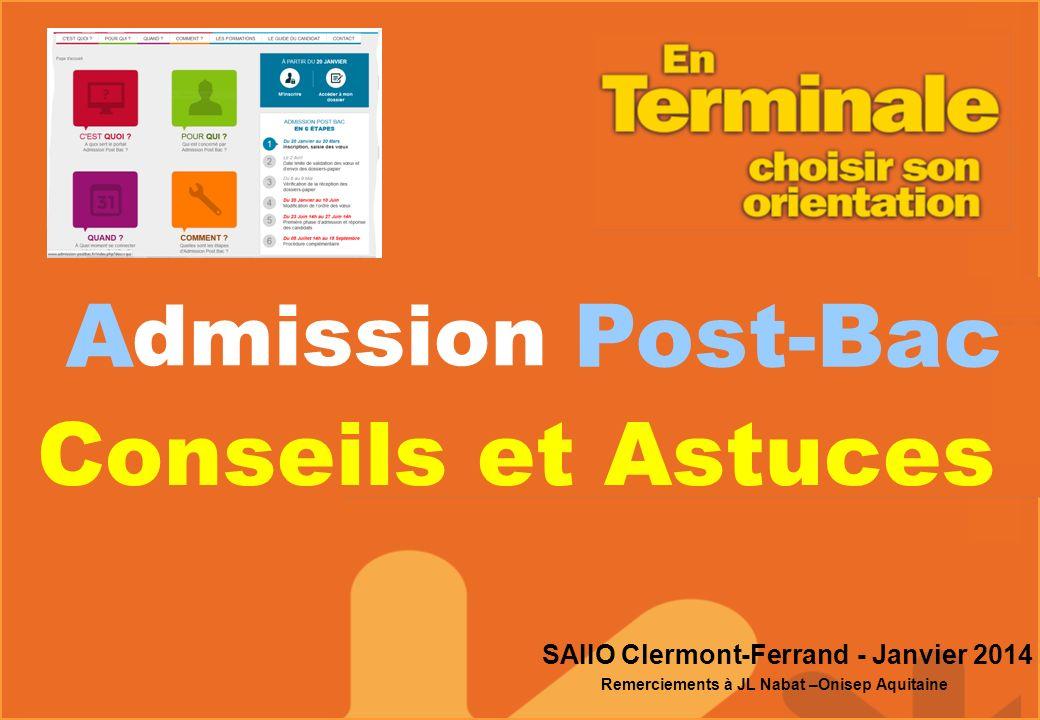 A Post-Bac Conseils et Astuces dmission