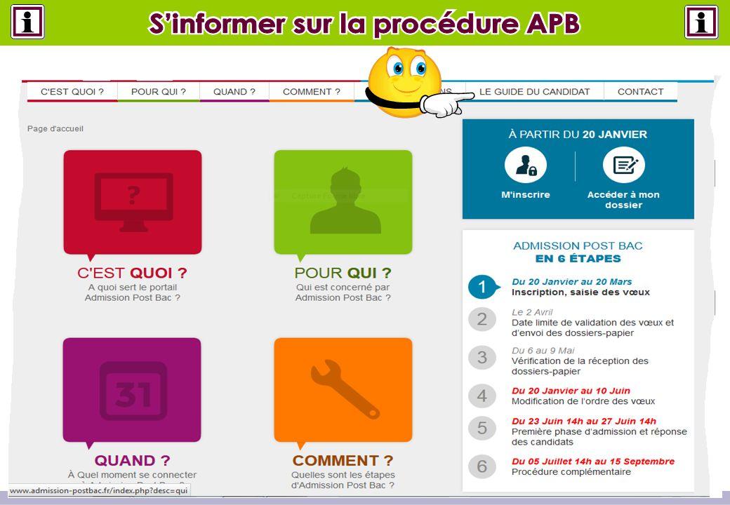 S'informer sur la procédure APB S'informer sur la procédure APB
