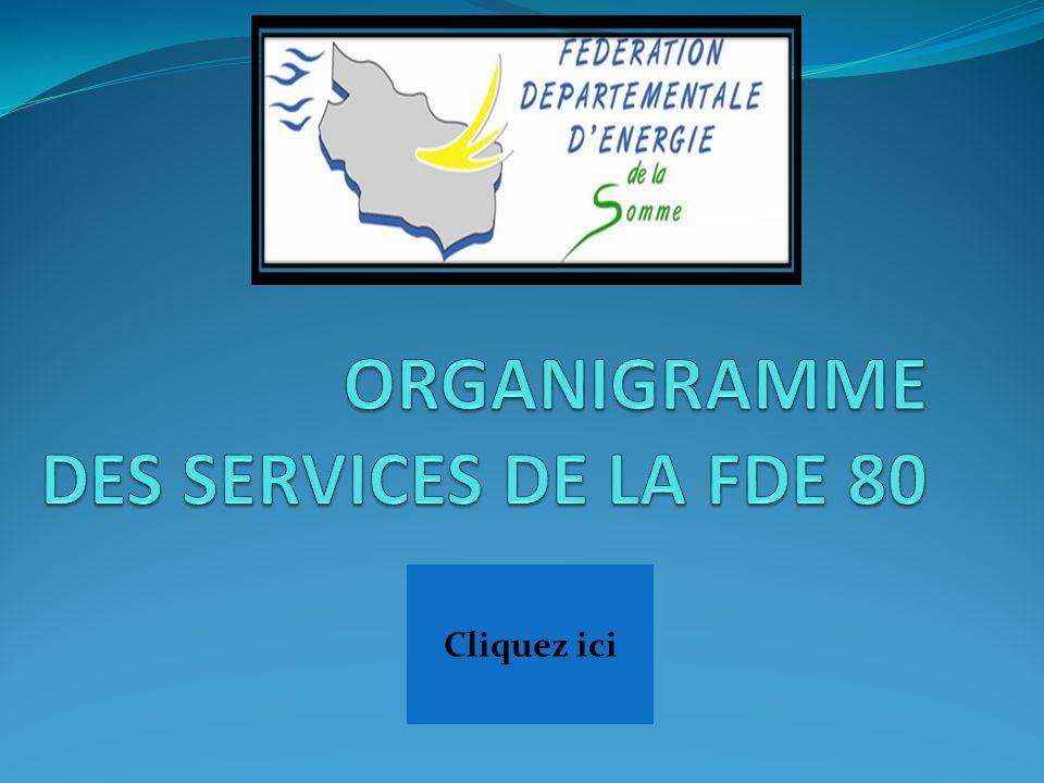 ORGANIGRAMME DES SERVICES DE LA FDE 80