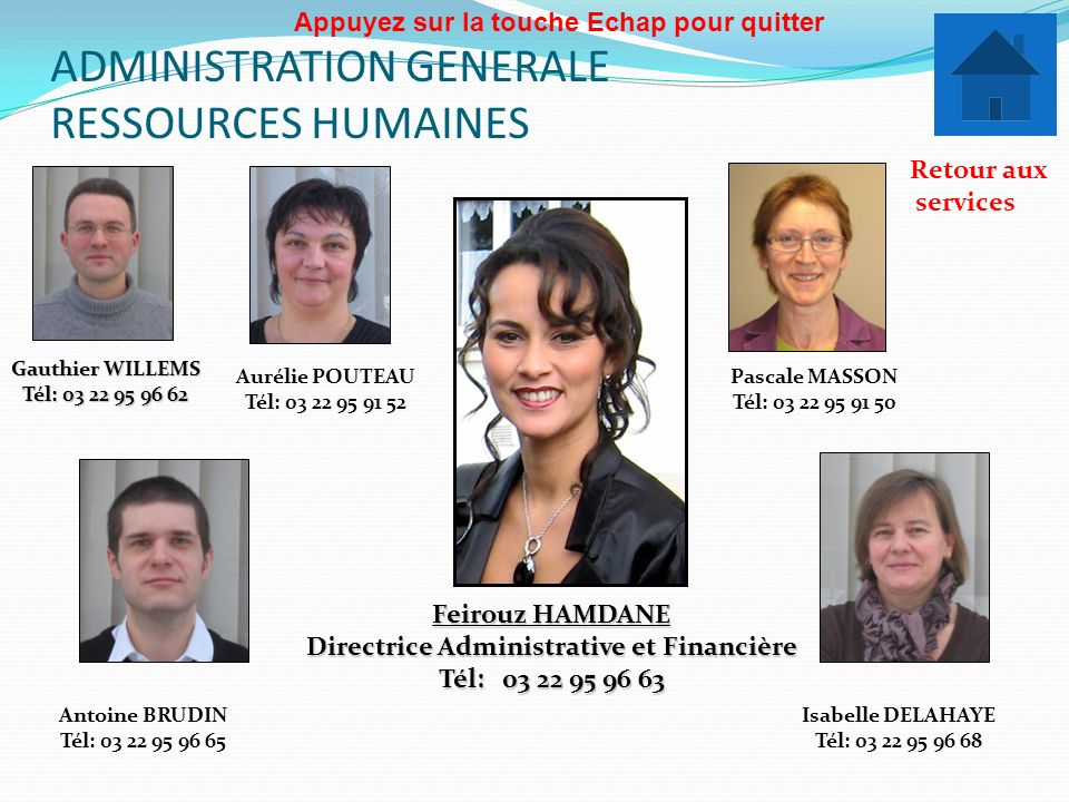 ADMINISTRATION GENERALE RESSOURCES HUMAINES