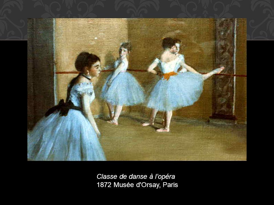 Classe de danse à l'opéra 1872 Musée d Orsay, Paris