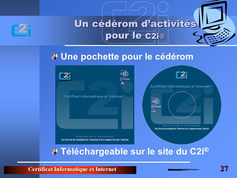 Un cédérom d'activités pour le C2i®