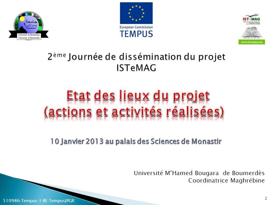 2ème Journée de dissémination du projet ISTeMAG