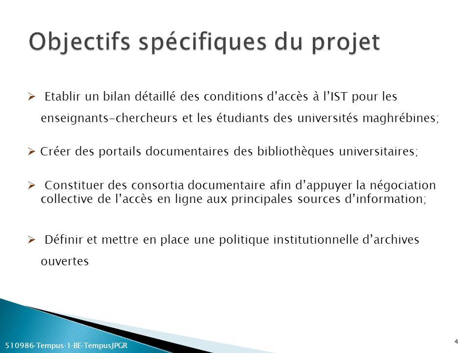 Objectifs spécifiques du projet