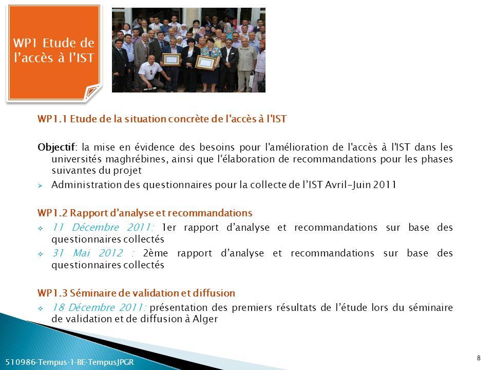 WP1 Etude de l'accès à l'IST