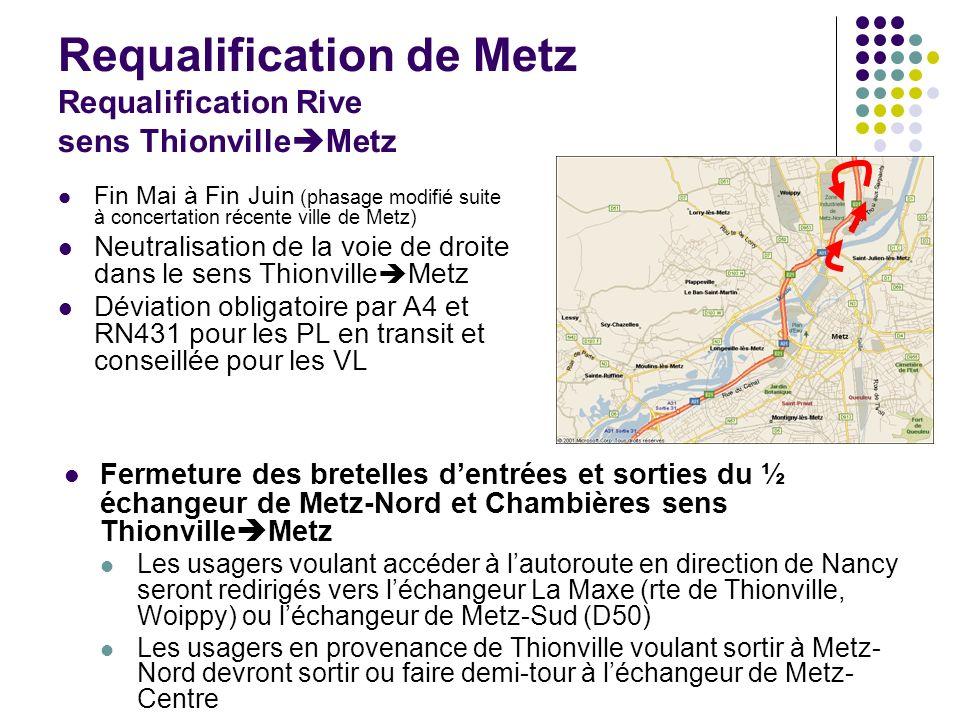 Requalification de Metz Requalification Rive sens ThionvilleMetz