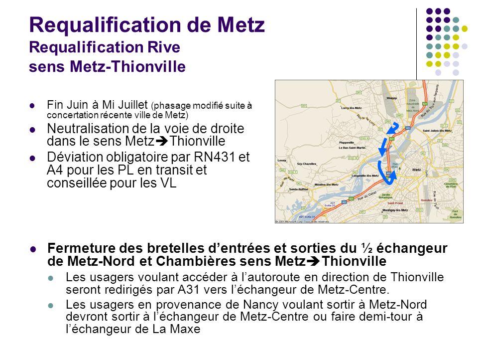 Requalification de Metz Requalification Rive sens Metz-Thionville