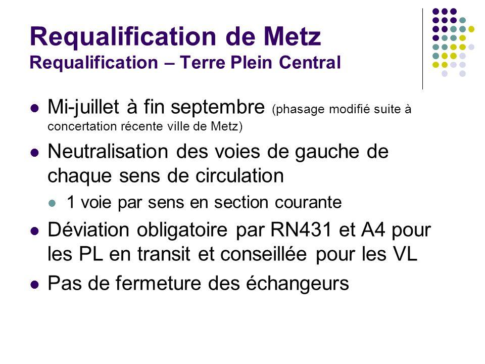 Requalification de Metz Requalification – Terre Plein Central