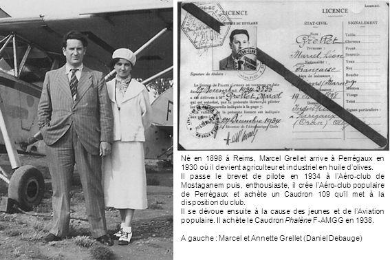 Né en 1898 à Reims, Marcel Grellet arrive à Perrégaux en 1930 où il devient agriculteur et industriel en huile d'olives.