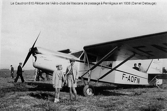 Le Caudron 510 Pélican de l'Aéro-club de Mascara de passage à Perrégaux en 1938 (Daniel Debauge)