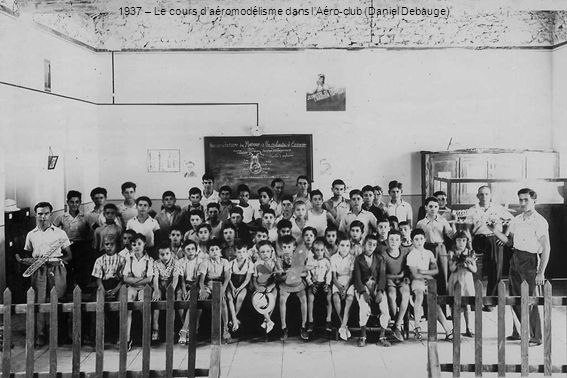 1937 – Le cours d'aéromodélisme dans l'Aéro-club (Daniel Debauge)