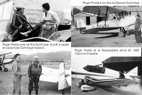 Roger Podda à l'arrière du Stampe (Dominique Wallard)