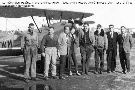 Le mécanicien Hacène, Pierre Crémieu, Roger Podda, Annie Ricoux, André Breysse, Jean-Pierre Crémieu, Mouchel et X (Ernest Bohn)