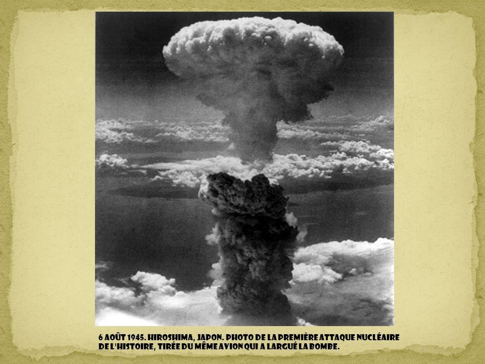 6 août 1945. Hiroshima, Japon.