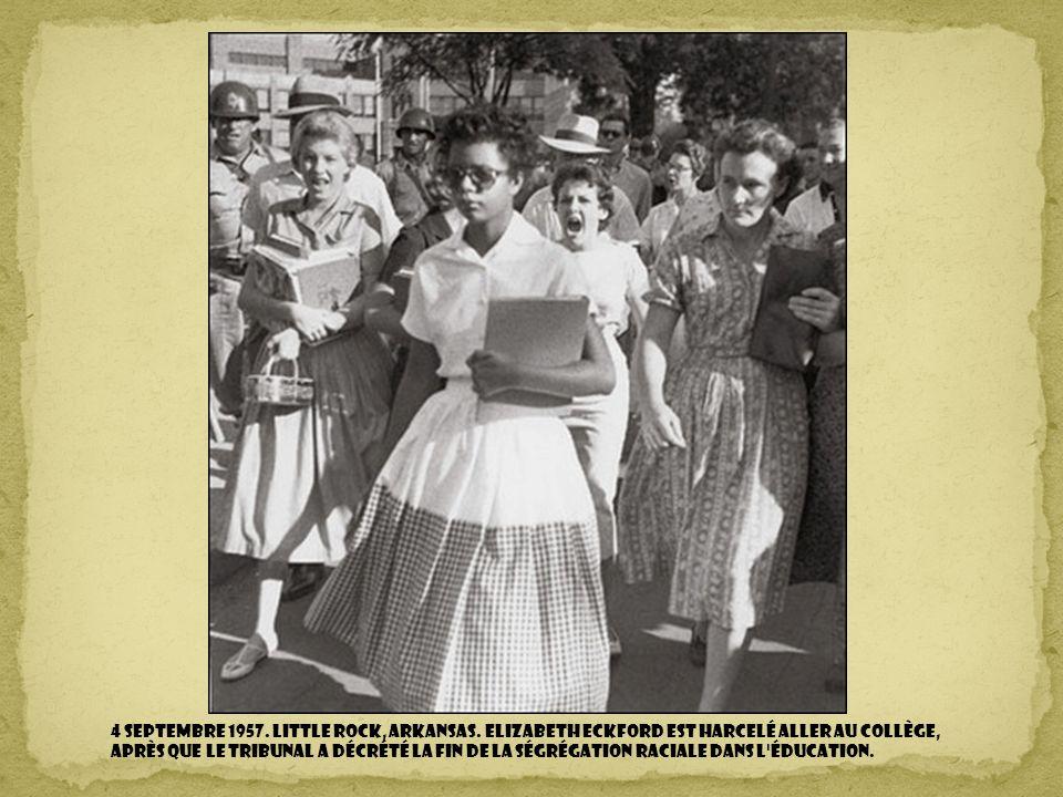 4 septembre 1957. Little Rock, Arkansas