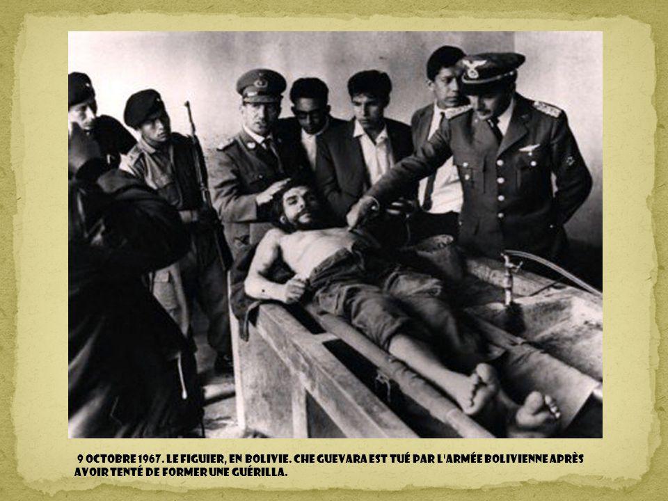 9 octobre 1967. Le figuier, en Bolivie