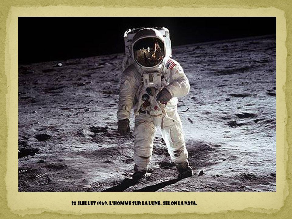 20 juillet 1969. l homme sur la lune. Selon la NASA.