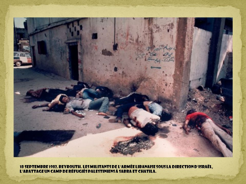 18 Septembre 1982. BEYROUTH.