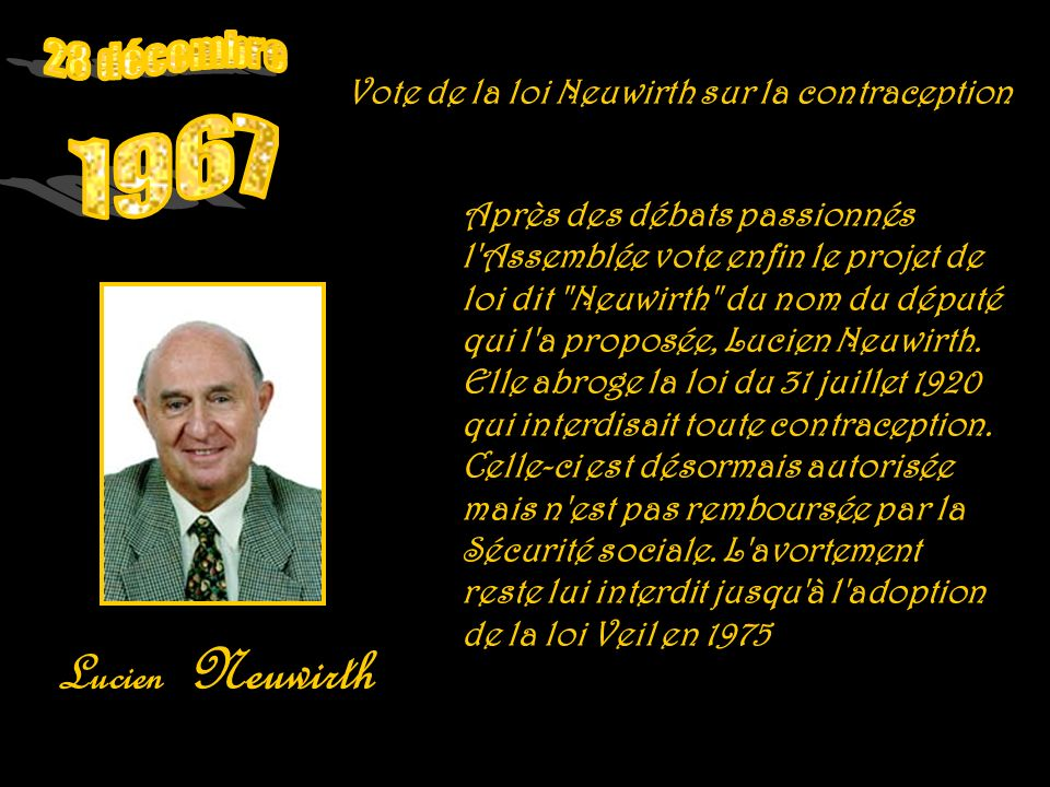 28 décembre 1967 Lucien Neuwirth
