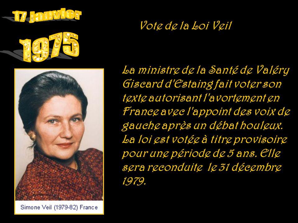 17 janvier 1975 Vote de la Loi Veil