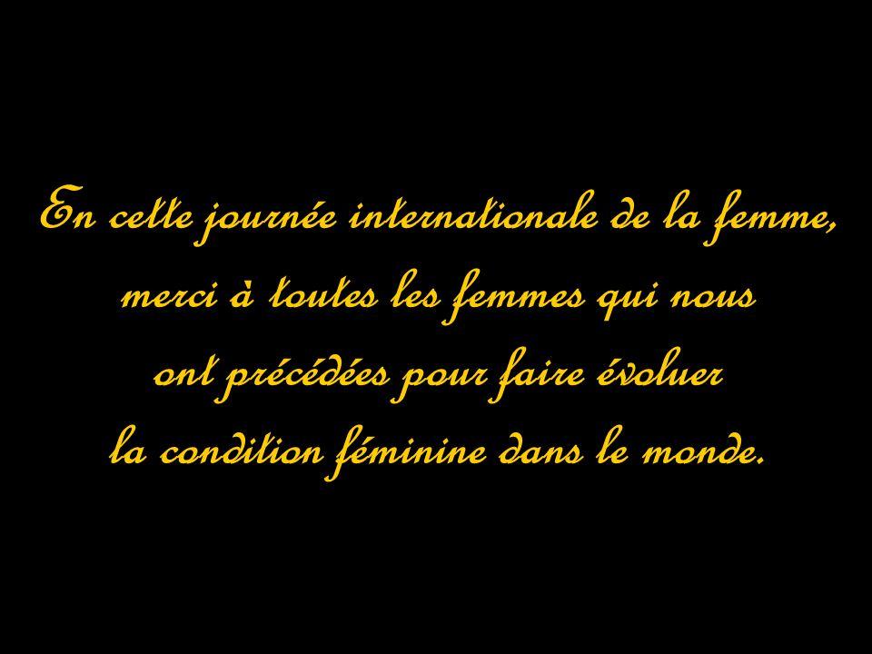 En cette journée internationale de la femme,