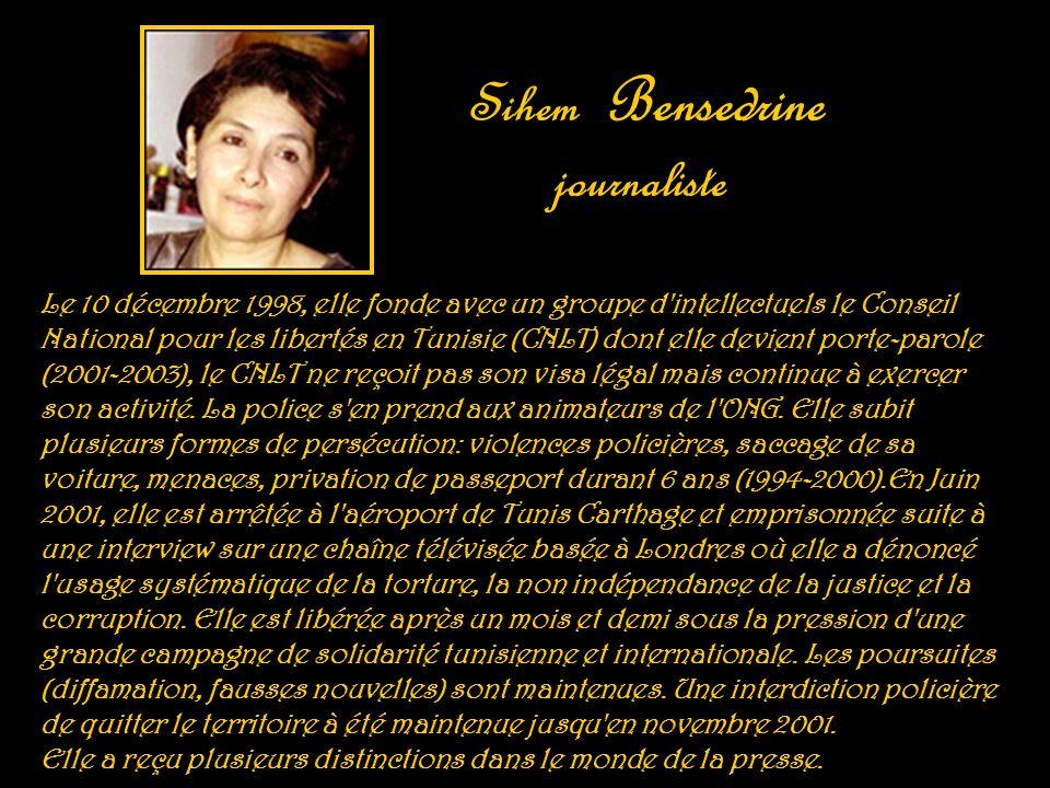Sihem Bensedrine journaliste