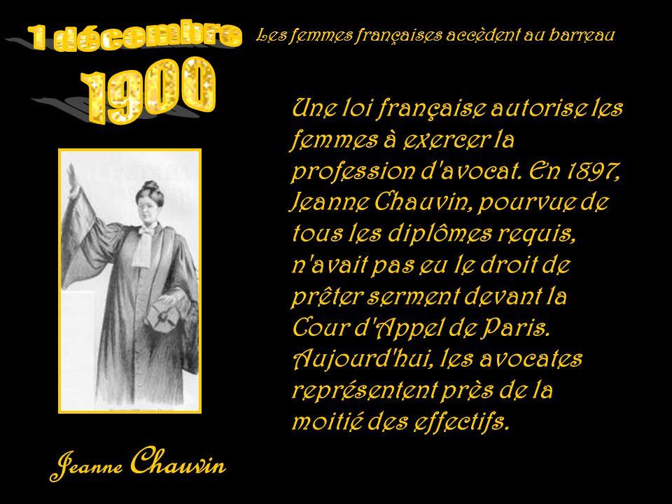 1 décembre 1900 Jeanne Chauvin